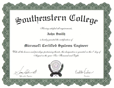 sample certifications
